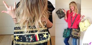 Alessia Marcuzzi borsa MarksAndAngels LucyMilitare