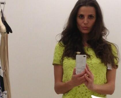 Cristina DePin abito PatriziaPepe giallo