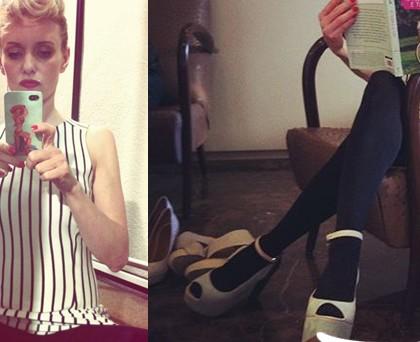Justine Mattera abito Banana Republic scarpe Moreschi