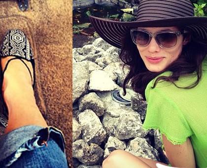 Marica Pellegrinelli scarpe Zara SlipperEtnic