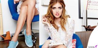 Chiara Ferragni scarpe Superga Azzurro