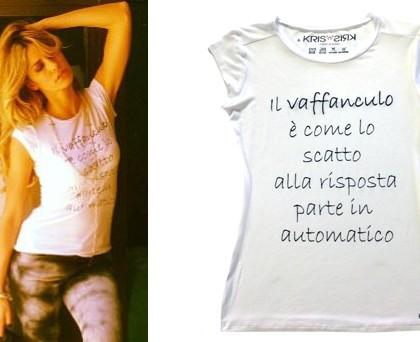 Elena Santarelli tshirt Kris'n'Kris 3