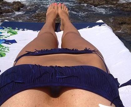 Laura Torrisi bikini F..K blu