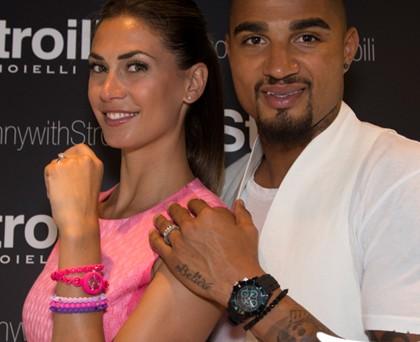 Melissa Satta Kevin Prince Boateng bracciali orologio Stroili