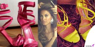 Melissa Satta scarpe LeSilla JimmyChoo