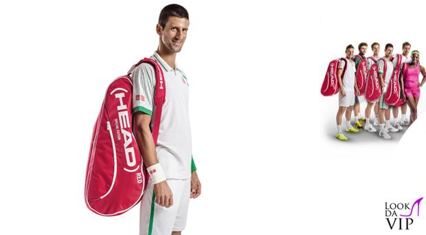 Novak Djokovic borsa head