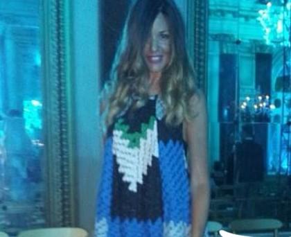 Alessia Fabiani abito Missoni