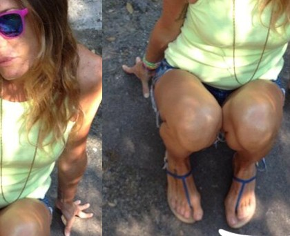 Alessia Fabiani scarpe Canfora GaelDenim
