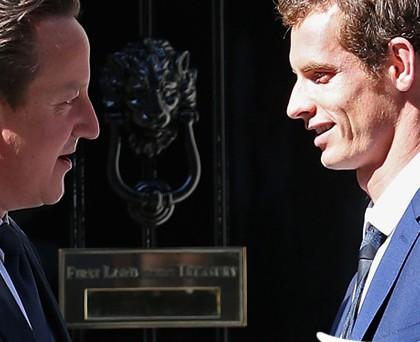 Andy Murray David Cameron