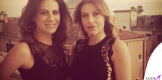 Barbara Berlusconi Francesca Versace abito nero pizzo
