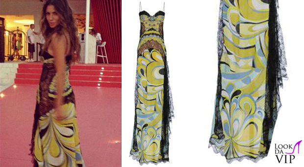 official photos 1adfb 382d9 Claudia Galanti abito EmilioPucci - Look da Vip