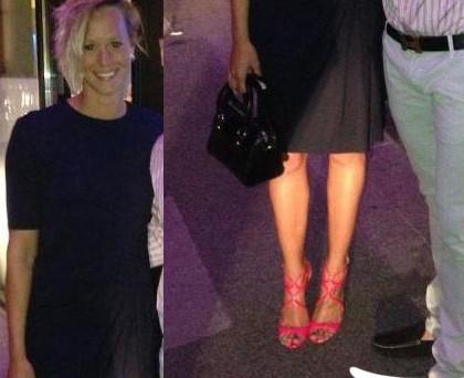 Federica Pellegrini scarpe JimmyChoo_abito_Acne