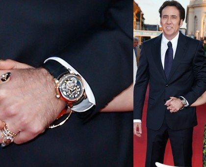 Nicolas Cage orologio Montblanc