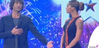 Belen Rodriguez abito Cavalli sandali GiuseppeZanotti
