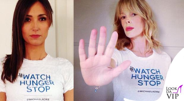Caterina Balivo Alessia Marcuzzi MichaelKors #WatchHungerStop