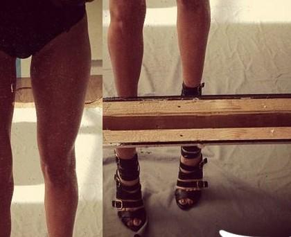 Elena Santarelli scarpe Casadei