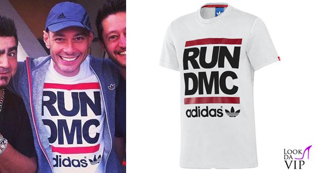 Fabri Fibra t shirt Adidas in collaborazione con Run DMC