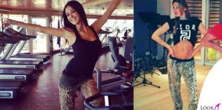 Giorgia Palmas Anna Tatangelo pantalone Happiness LEO