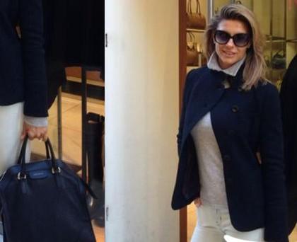Martina Colombari borsa Coccinelle