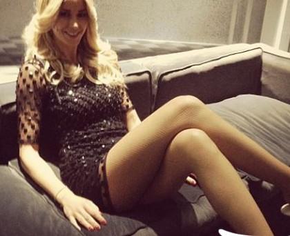 Elena Santarelli abito Pinko Merlo