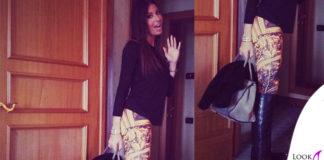 Elisabetta Gregoraci leggings GaelleBonheur borsa Prada