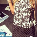 Jessica Alba abito borsa Kenzo 2
