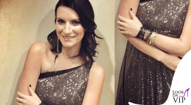 Laura Pausini abito Armani gioielli Iosselliani 2