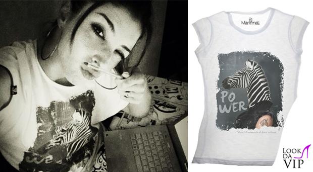 Margherita Zanatta tshirt Manymal zebra