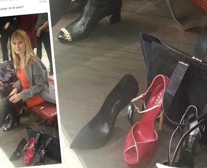 Serena Autieri scarpe Casadei