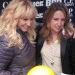 Antonella Clerici piumino Blauer casco Blauer stivali Ruco Line