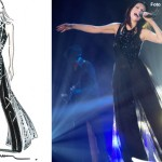 Laura Pausini tour abiti Armani 2 bozzetto