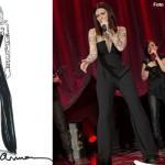 Laura Pausini tour abiti Armani 3 bozzetto