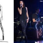 Laura Pausini tour abiti Armani 5 bozzetto