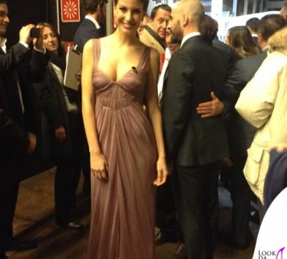 Francesca Fioretti Gran Gala del Calcio abiti Alberta Ferretti scarpe LeSilla