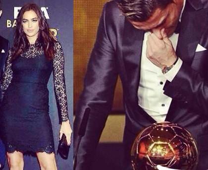 Irina Shayk PalloneDOro abito Dolce e Gabbana scarpe YvesSaintLaurent