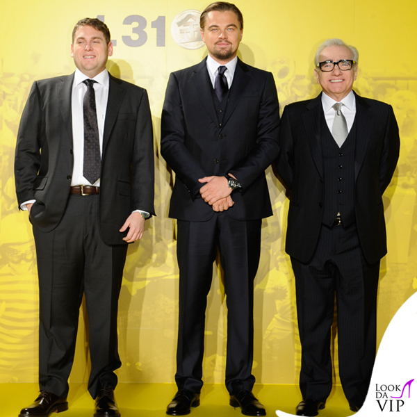 Leonardo DiCaprio Martin ScorseseThe Wolf of Wall Street Tokyo abiti Giorgio Armani 2