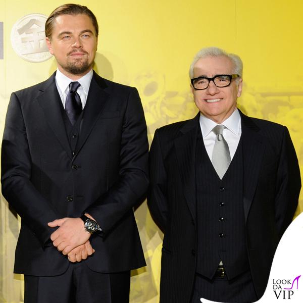 Leonardo DiCaprio Martin ScorseseThe Wolf of Wall Street Tokyo abiti Giorgio Armani