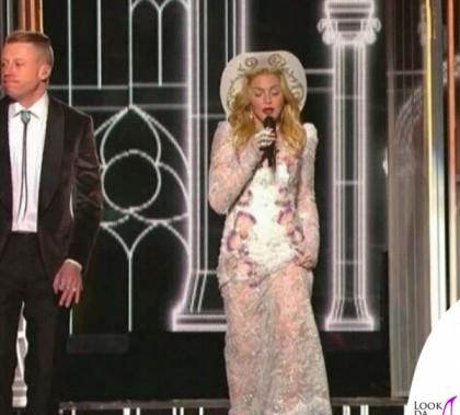 Madonna Grammy Awards 2014 abito Francesco Scognamiglio