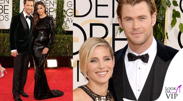 Matthew McConaughey Camila Alves Chris Hemsworth Golden Globes abiti Dolce e Gabbana
