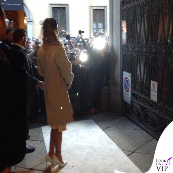 Belen Rodriguez Presentazione LeSilla MFW abito Nina Ricci scarpe LeSilla clutch YSL 8