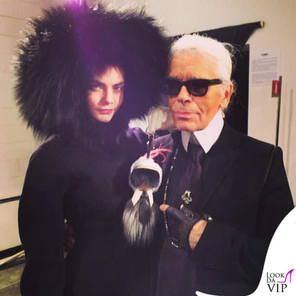 Cara Delevingne Karl Lagerfeld Fendi Bag Boy Karlito Milano Fashion Week
