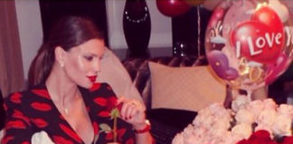 Claudia Galanti abito Saint Laurent
