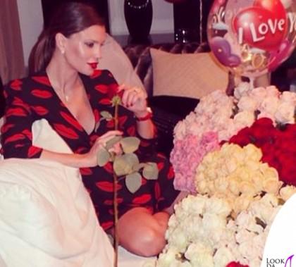 Claudia Galanti abito Saint Laurent