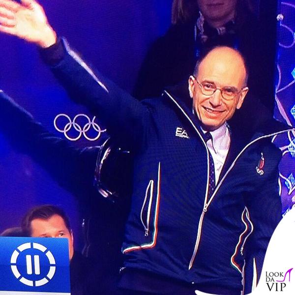 Enrico Letta Olimpiadi Invernali Sochi giaccone EA7 Armani
