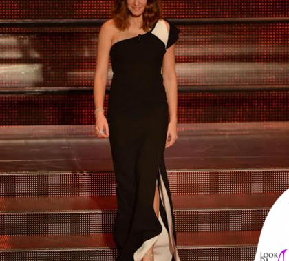 Kasia Smutniak Sanremo 2014 total Fendi