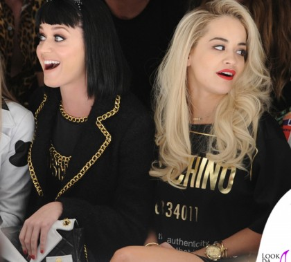 Katy Perry Rita Ora Moschino Milano Fashion Week