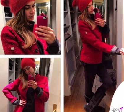 Melissa Satta cappotto Swiss Chriss stivali Mou