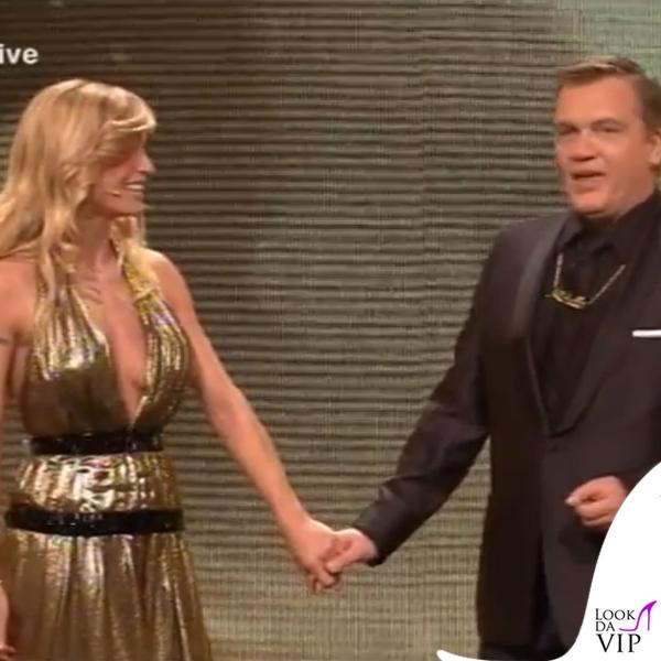 Michelle Hunziker Die Goldene Kamera abito Trussardi 3