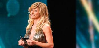 Michelle Hunziker Die Goldene Kamera abito Trussardi 5