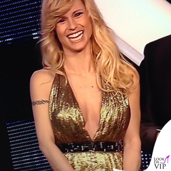 Michelle Hunziker Die Goldene Kamera abito Trussardi